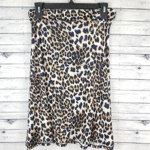 LuLaRoe Azure Leopard Skirt Sz Sm